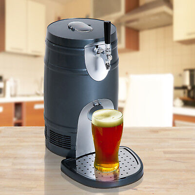 HOMCOM Beer Tap Dispenser Machine Keg Beverage Electric CO2 Cooler 5L Home Bar