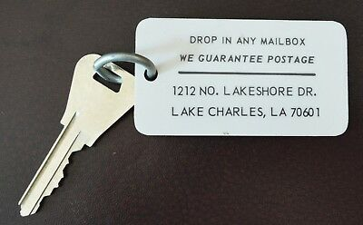 Vintage Lake Charles, Louisiana Hotel Motel Room Key & Fob  Room #315