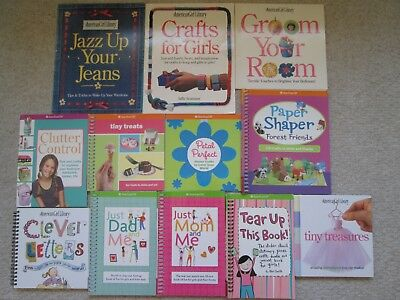 AMERICAN GIRL LIBRARY CRAFT LOT 12~Tiny Treasures~Paper Shaper~Just Mom Dad~Jazz