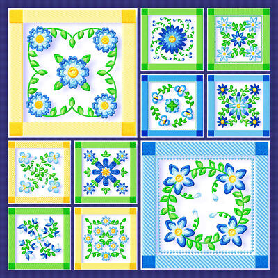 Quilters Fancy Blocks 10 Machine Embroidery Designs Cd 3 Sizes