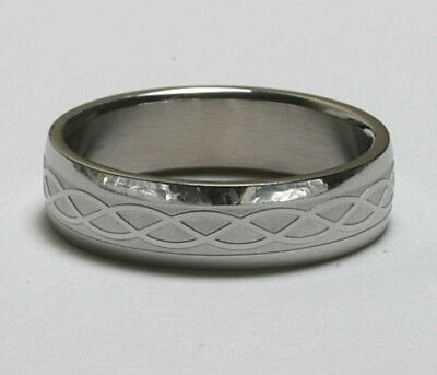 Men Women 316L Stainless Steel Celtic 6mm Ring Wedding Band Size 6 - 13 NEW SS56