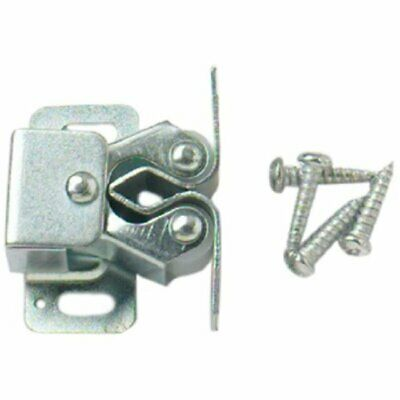 Zinc Plated Double Roller Cupboard Cabinet Door Catches - Pack 6
