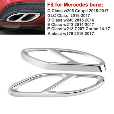 2x Exhaust Pipe Cover Trim for Mercedes Benz GLC C E Class W205 Coupe W213 14-17