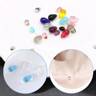 10pcs Water Drop Glass Beads Tear Glasses Charm Pendant for DIY Jewelry