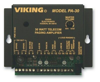 Viking Electronics VK-PA-30 30 Watt Telecom Paging Amplifier