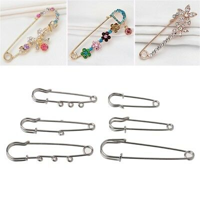4dbd1291ed85e2 10PCS Silver Brooch Findings Spring Lock DIY Looped Kilt Pins For Jewelry  Making