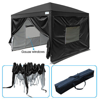 Quictent 2018 White Privacy 3mx3m EZ Pop Up Canopy Party Tent Folding Gazebo