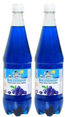 Snow Cone Blue Raspberry 2 x 1ltr of authentic Syrup, not slush by SnowyCones™
