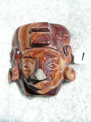 Mayan Mask Soapstone  New.