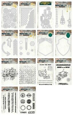 Studiolight Cutting Dies & Stamps - Industrial - Cogs, Shield, Mesh - SALE PRICE