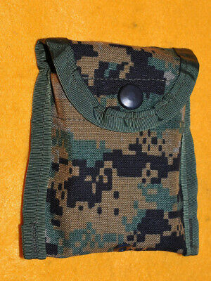 USMC Woodland MARPAT First Aid or Compass Pouch ALICE Clip Brand New Nylon