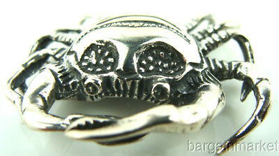 Sterling Silver Crab Cancer Zodiac Figurine #255