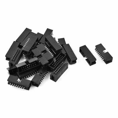 25 Pcs 16-Pin Double Row Straight Shrouded Box Header Connector Pitch 2.54mm