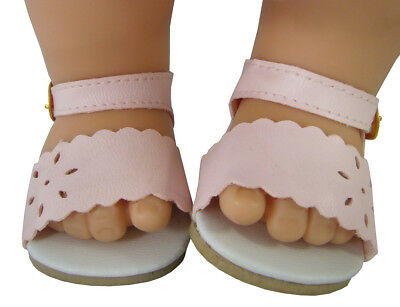 c10aca841 Light Pink Summer Sandals Shoes made for Bitty Baby + Twins Doll Clothes
