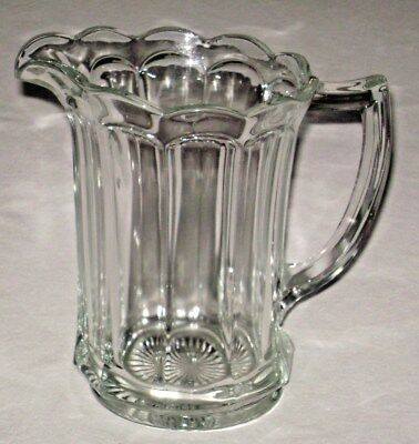 Antique EAPG Large Fluted Glass Pitcher