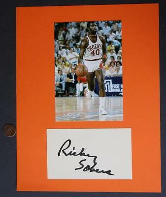 7127f3924 1975-77 NBA Phoenix Suns star Ricky Sobers signed autograph-Indiana Pacers  too!