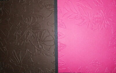 Embossed Textured Cardstock x 10 *GREEN & PALE PINK*  SCRAPBOOKING/CARDS