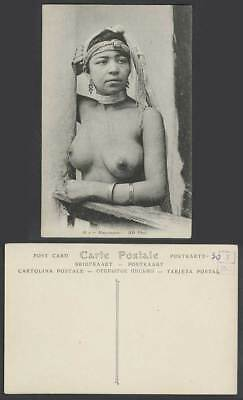 Ethnic Life Mauresque, A Native Moorish Woman Lady Girl ND Phot 36A Old Postcard