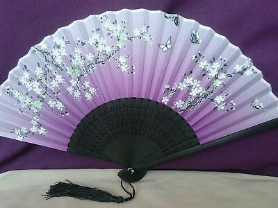 Gorgeous Chinese Silk Fan,traditional Plum Blossom/butterfly, Summer, Wedding