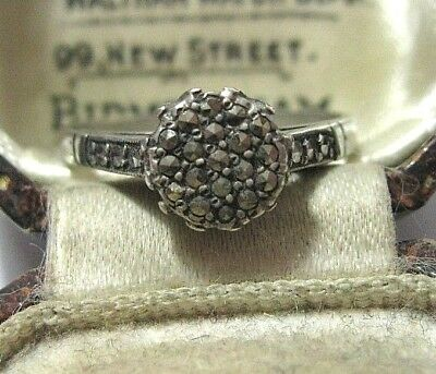 Vintage Antique Art Deco 1930's Sterling SILVER Marcasite Jewellery RING P 7.5
