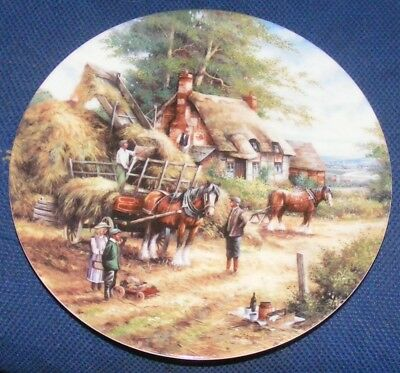 1991 20cm Wedgwood Country Days Making The Hayrick Collectors Plate