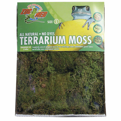 Zoo Med Terrarium Moss Dried Sphagnum for frogs lizards reptiles