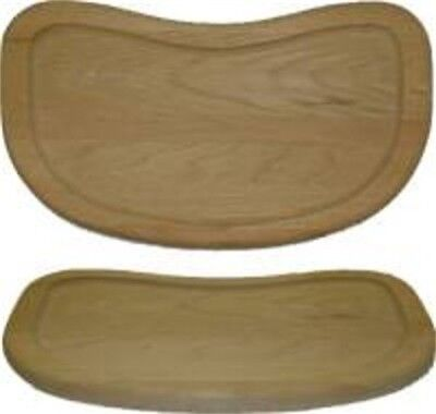 Oak- Grooved high chair tray S-5226