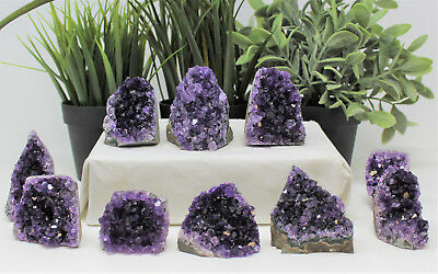 Stunning Small Amethyst Cut Base Cluster, Crystal Quartz Geode 3 - 4 oz