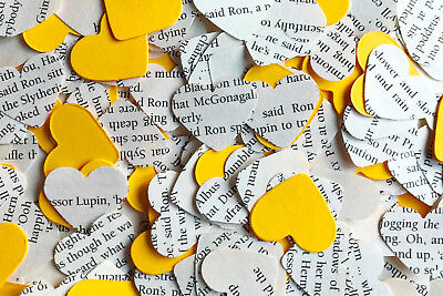 Heart Wedding Table Confetti/Decoration-Harry Potter & Yellow Paper-Hufflepuff