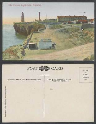 Gibraltar Old Colour Postcard The Europa Point Lighthouse Le Phare Panorama View