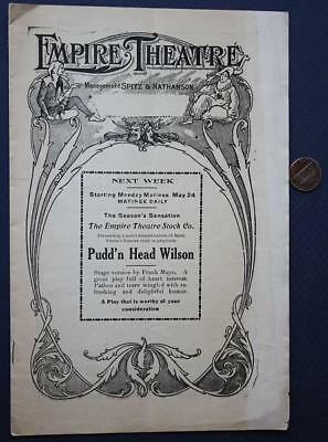 1909 Providence,Rhode Island Empire Theatre Soldiers of Fortune program-VINTAGE!
