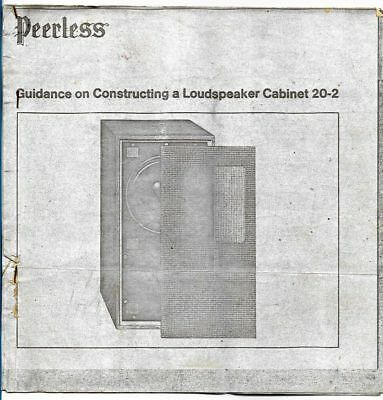 Vintage Peerless 20-2 loudspeaker kit instructions