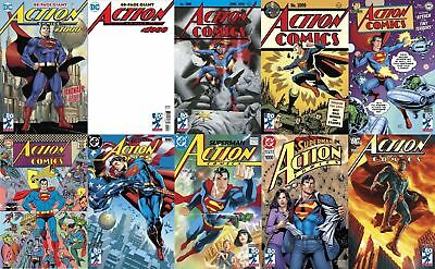 LOT Action Comics #1000 1st print Blank 1930 1940 1950 1960 1970 1980 1990 2000