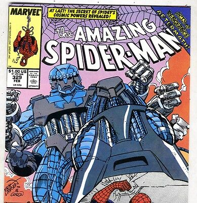 The Amazing Spider-Man #329 vs. TRI-SENTINEL! from Feb. 1990 in VF condition DM