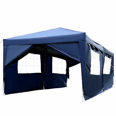 Outsunny 6m x 3m Pop Up Gazebo Party Tent Canopy Marquee with Storage Bag Blue