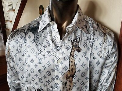 3b6a0a405207 LOUIS VUITTON CHAPMAN Brothers SILK MONOGRAM SHIRT - Nwout Tag -Size ...