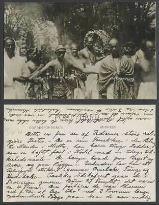 Singapore Old Real Photo Postcard Chetty Taipusan Hindu Festival Thaipusam Tamil