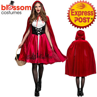 K552 Ladies Deluxe Little Red Riding Hood Book Week Fairytale Dress Up Costume