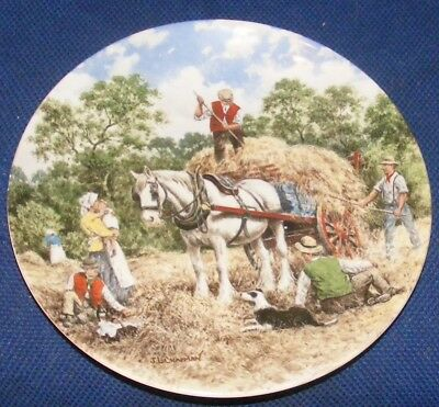 1989 20cm Wedgwood Country Days Haymaking Collectors Plate