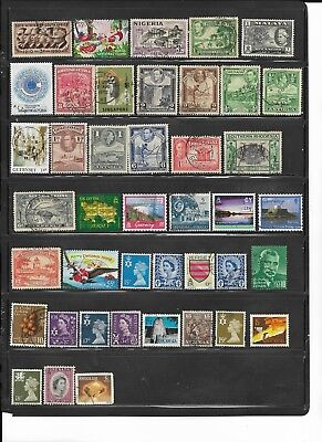 95 Different Used British Stamps