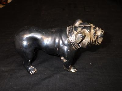 Vintage Antique Cast Metal Parsons Bulldog Dog Paperweight 7 In Length