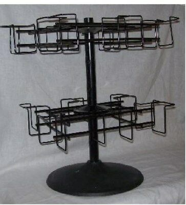 Store Display Fixture NEW 2  LEVEL COUNTER TOP SPINNER CD / DVD  DISPLAY RACK
