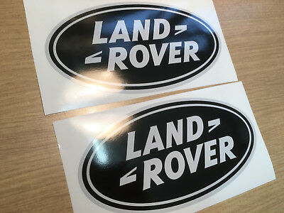 X2 Land Rover Oval Defender Discovery Badge Decal Sticker 180X90Mm
