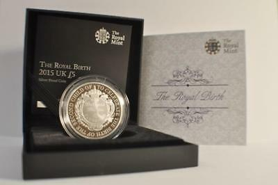 £5 2015 United Kingdom The Royal Birth-A New Royal Arrival Silver Proof