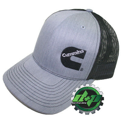 Dodge Cummins trucker hat ball mesh richardson grey black heather snap back
