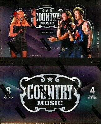 Panini Country Music Hobby Trading Cards Box Blowout Cards