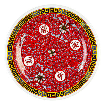 "Thunder Group 1010TR 10-3/8"" Diameter Longevity Pattern Melamine Plate - 1 Doz"