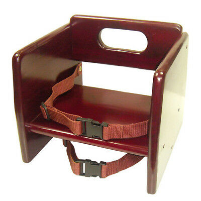 Thunder Group WDTHBS020 Wooden Stackable Booster Seat w/ Mahogany Finish