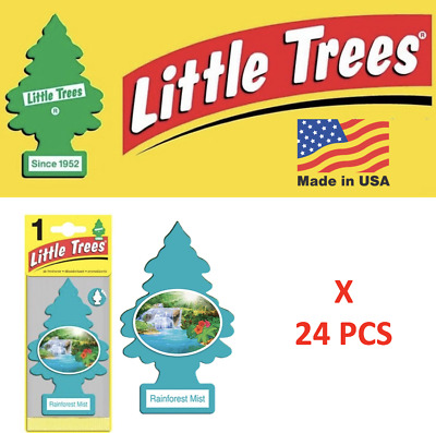 Rainforest Mist Little Trees Freshener air 10106 Air Tree MADE IN USA Pack of 24