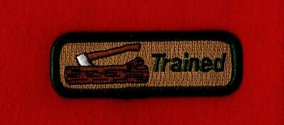 WOOD BADGE TRAINED Leader Staff Staffer Axe Log Uniform Patch Boy Scout Beads